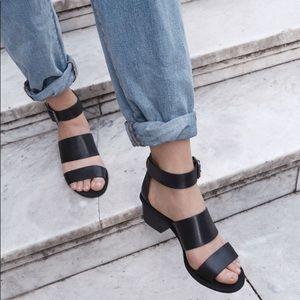 "Madewell ""the warren"" black sandals"
